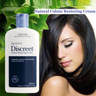 ريستوريا ديسكريت لوشن أو كريم يعيد إليك تدريجياً لون شعرك الأصلي