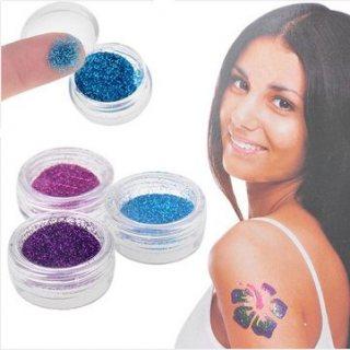 shimmer glitter tattoos