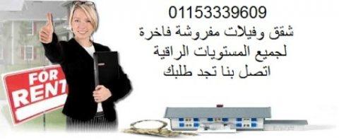 مطلوب شقة مفروشة للايجار والتعاقد فورا