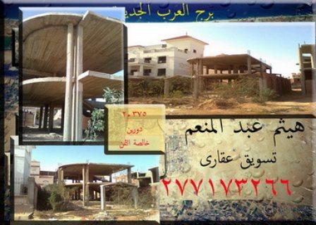 375م2 على الرئيسى برج العرب الجديدة