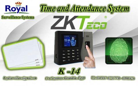 ساعة  حضور وانصراف ZKTeco موديل K14