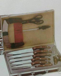طقم سكاكين 11 قطعة في شنطة