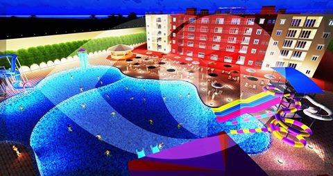 شالية للبيع بقرية متكاملة#بالساحل تطل علي حمام سباحة مباشرةاستلام قريب