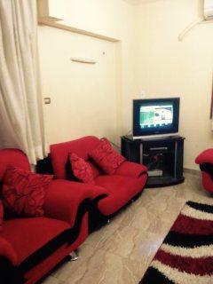 شقة مفروشة للايجار بموقع مميز مستوى راقي مدينة نصر بين عباس العقاد ومصطفي النحاس