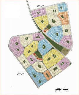 ارض للبيع بيت الوطن التجمع الخامس 770 متر بالحى الثانى مدفوع القسط