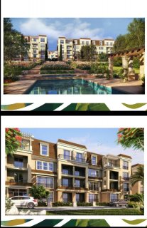 بالتقسيط شقة رائعة في كمبوند ساراي  165 م دور ثالث