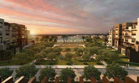 للبيع بالتقسيط شقة رائعة ارضي 115م بحديقة  65م    بكمبوند تاج سيتى