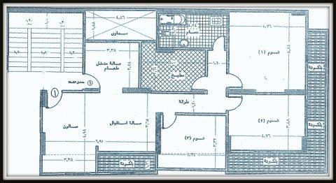 شقة تمليك 180م على شارع جمال عبد الناصر الرئيسى ناحية موقف الباجور من الوسيط