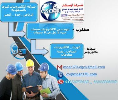 مطلوب مهندسين مبيعات كهرباء / الالكترونيات / اتصالات / تقنية معلومات