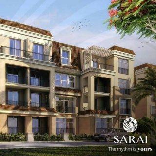 للبيع شقة في ساراى 172م المرحله الأولي تطل على منطقه الفنادق