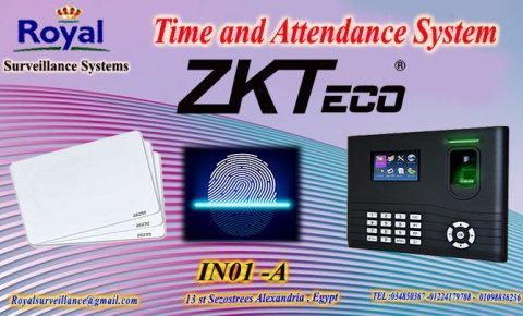 ماكينة حضور وانصراف ZKTeco موديل IN01-A