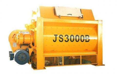خلاط الخرسانة JS3000,خلاطة خرسانة إجبارية 180 م³ / سا