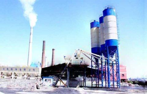 محطة خلط الخرسانة HZS75,الخرسانة 75 م3/ساعة,مصنع خلط الخرسانة للبيع