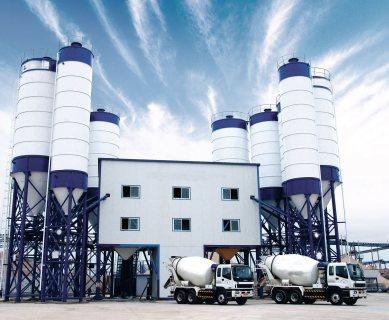 محطة خلط الخرسانة HZS90,الخرسانة 90 م3/ساعة,مصنع خلط الخرسانة للبيع