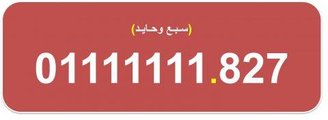 ارقام (سبع وحايد من اتصالات مصر) بسعر مناسب جدا 01111111