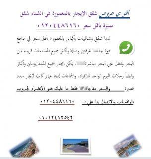 أقو ي عروض شقق الإيجار بالمعمورة في الشتاء شقق مميزة بأقل سعر 01204486160