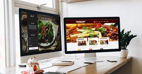 عرض تصميم موقع انترنت لمطعم
