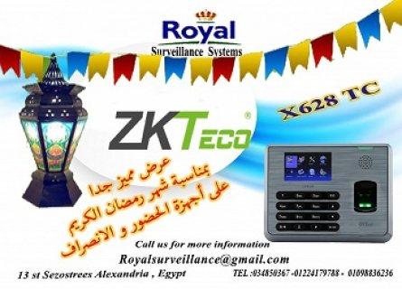 بمناسبة شهر رمضان الكريم أجهزة حضور وانصراف ماركة ZKTECOموديلX628-TC