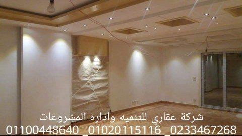 شركات تشطيبات في مصر  (شركه عقاري للتنميه واداره المشروعات) 01020115116