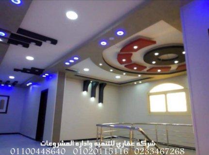 شركة تصميم ديكورات  (شركه عقاري للتنميه واداره المشروعات) 01020115116