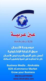 شركة عين عربية للتجارة الالكترونية B2B وتصميم المواقع وتطبيقات المحمول