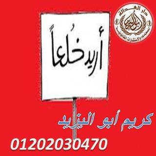 افضل محامي خلع في مصر(كريم ابو اليزيد)01202030470