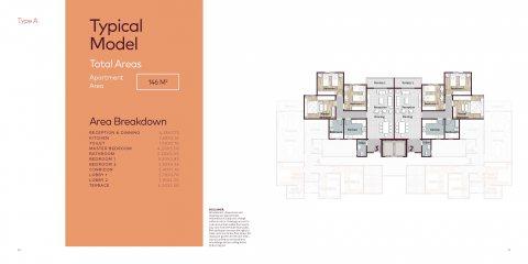 شقة 3 غرف للبيع فى كمبوند سوينو العاصمة الادارية قسط