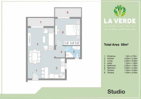 يتميز كمبوند لافيردي بان المساحات الخضراء و الخدمات به تصل إلى 80% والمباني