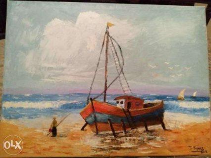 لوحة فنية اصلية للبيع