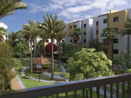 شقة ارضي بجاردن خاصة في كمبوند الرياض سيكون التجمع الخامس