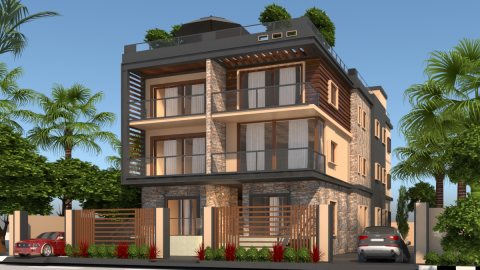شقة 190 + 30 حديقة خاصة فى ارقى حى فيلات بمدينة الشروق