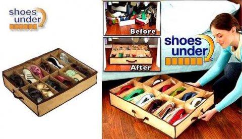 جزامة SHOES UNDER منظم احذية سهل الاستعمال ويمكن نقلة بسهوله