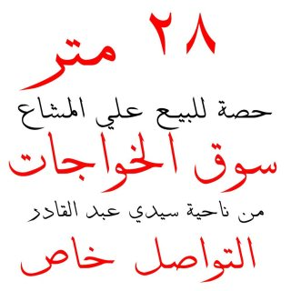 حصة أرض 28 متر للبيع علي المشاع بسوق الخواجات بالمنصورة من ناحية سيدي عبد القادر