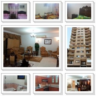 شقة مفروشة للايجار 200م امام السراج مول اخر مكرم عبيد مدينة نصر