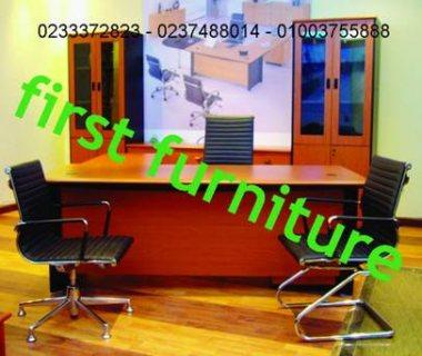 مكتب خشب طبيعى مستورد & زجاج  اشكال مختلفة ومقاسات متعددة من فرست فرنتشر الدقى