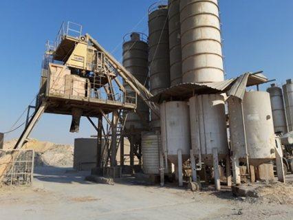 ارض صناعى للبيع + 2 محطة خرسانة بموقع متميز بالقرب من الالف مصنع