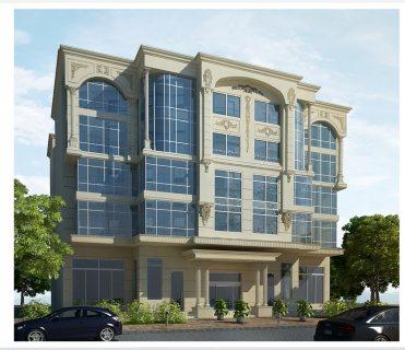مبنى ادارى للايجار / البيع بموقع متميز بالملتقى العربى - النزهة