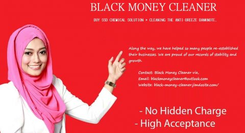 BLACK MONEY CLEANING WITH SSD SOLUTION CHEMICALS