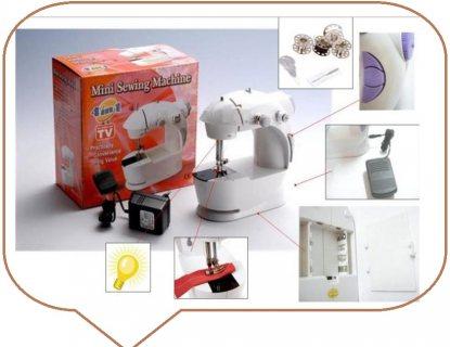 ماكينة خياطة كهربائية بتصميم صغير قابل للحمل ويعمل بالبطارية