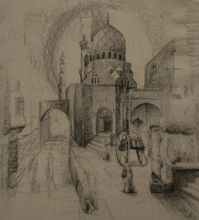 رسم مباشر للقاهره القديمة