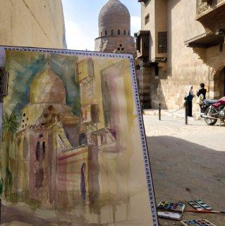 لوحه مباشرة من القاهرة القديمة