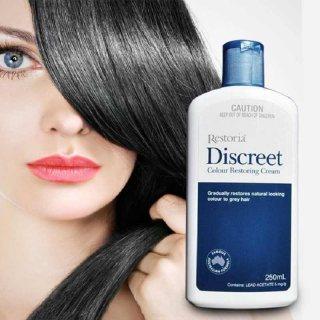 ريستوريا ديسكريت كريم يعيد إليك تدريجياً لون شعرك الأصلي