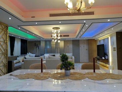 من أعمالنا في تشطيب وديكورات شقة سكنية فندقية في القاهرة