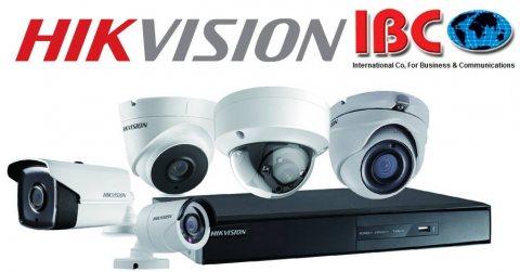 كاميرات مراقبة hikvision HD من ibc وبضمان الوكيل