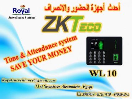 ساعة حضور وانصراف ماركة ZKTeco  موديل WL10