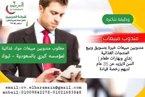 مطلوب مندوبين مبيعات وتوزيع منتجات غذائية بالسعودية