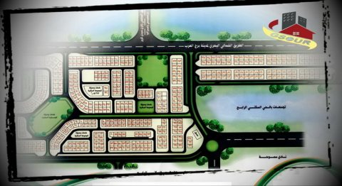 ارض مميزة للبيع برج العرب الجديدة الحى الرابع