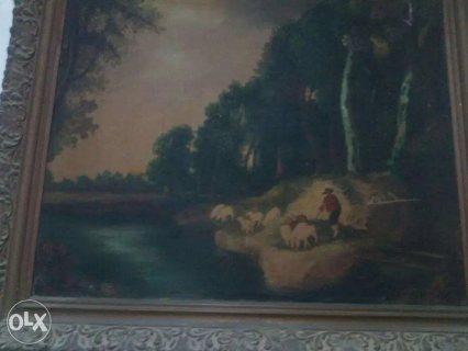 لوحة لفنان اجنبي ممضية