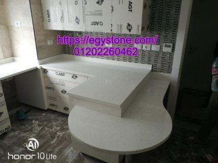 تجاليد كوريان لمطابخ مودرن _ رخام صناعي_ HANEX  من شركة ايجي ستون 01202260462